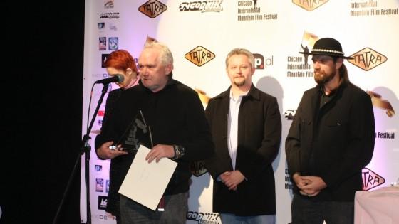 Jerzy Porębski odbiera jedna z dwóch nagród. /fot.: m. Sowa /